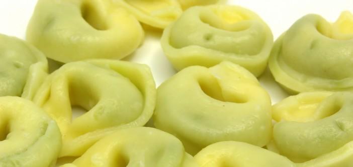 tortellini met groene pesto en Breydelspek (4 porties)